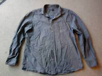 Rocha John Rocha shirt, grey with tiny dark grey stripes, size large