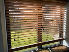 Medium Oak Blind (128cm width x 114cm drop, 50mm slats)