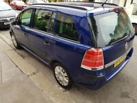 2007 Vauxhall Zafira 7 Seater Petrol Cheap Reliable Family Car, Economical 1 YR MOT 1 Yr Warranty