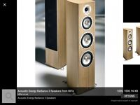 A set of AE radiance 3 speakers in great condition .