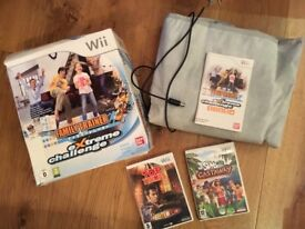 Wii DANCE MAT, DR WHO TOP TRUMPS, SIMS GAME