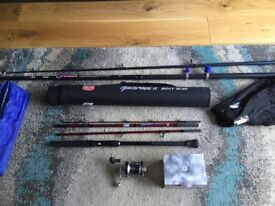 For sale Abu reel 12/20 class 4 piece boat rod and beachcaster