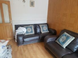 Second hand leather sofa for sale asap