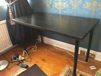Free black desk. Needs to go today or tomorrow!