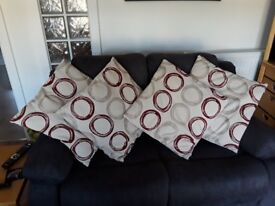 4 GOOD QUALITY LARGE CUSHIONS IN IMMACULATE CONDITION FROM NON SMOKING PET FREE HOME