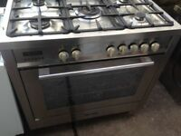 Stainless steel Range gas cooker..90cm. Mint Free Delivery
