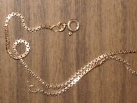 9 CT Gold Chain / Necklace 19.75 inches, Total weight 5.78 Gram