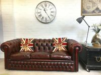 Vintage oxblood Chesterfield sofa. Can deliver.