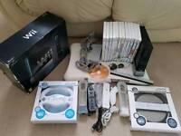 Nintendo Wii black + 13 games inc mario kart, sports resort + balance board