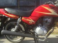 2001 Honda CG125, low mileage clean and tidy but needs £65 in cosmetics 125cc