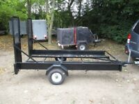 8-2 X 4-2 TRANSPORTER TRAILER WITH ATTACHED RAMPS....500KG UNBRAKED