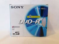 Box of 5 DVD-R Sony - 4.7GB 8x compatible (BRAND NEW)