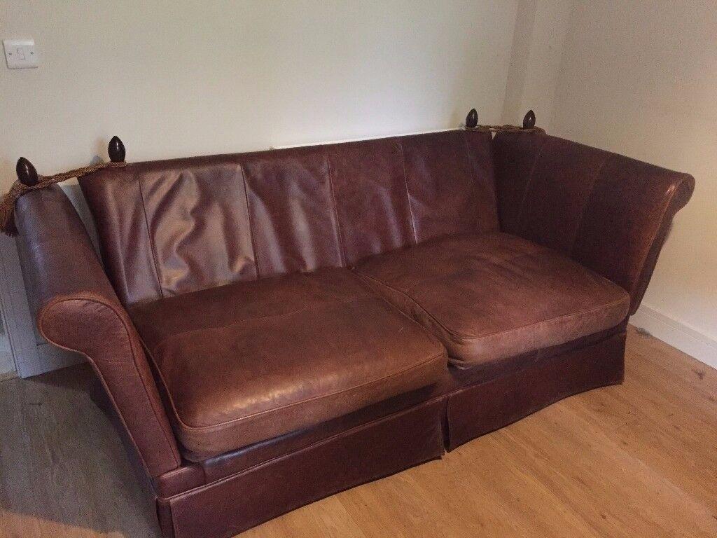 Laura Ashley Leather Langham Knole Sofa In Blandford