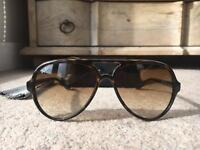 Ray-Bans CATS 5000 Classic - RB4125 / Tortoise Light Brown Gradient