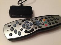 Mini sky connector and HD remote control, wireless router and HD box