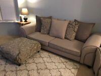 DFS four seater Sofa, armchair & footstool