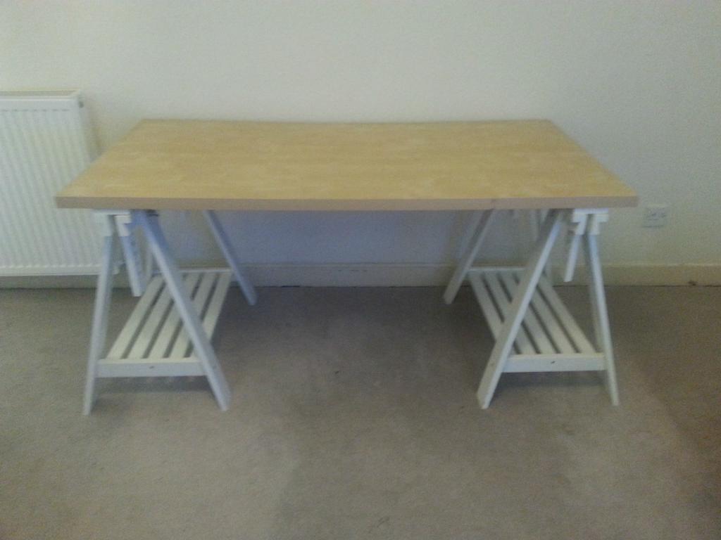 Desk height adjustable ikea linnmon finnvard tilt table with