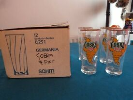 Cobra half pint glasses (set of 12)