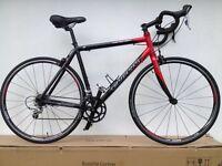 Carrera vanquish road bike racing bicycle 700c carbon fibre forks