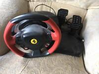 Steering wheel with pedals, ThrustMaster 458 Spider for xbox one
