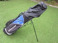 GOLF BAG DUNLOP LIGHTWEIGHT CARRY STAND BAG GOOD CONDITION++