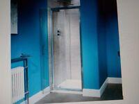 Shower door.