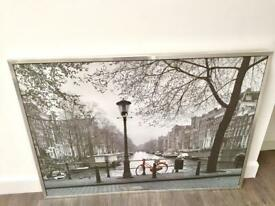 Picture large Amsterdam scene 55x39inches