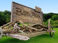The WOW! Bark Park - Custom Wooden Work for Outdoors Natural Materials Billboard Sign Wood Label