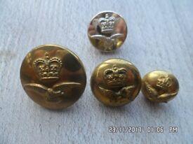 58 Royal Air Force brass / brass effect / gilt? buttons