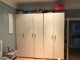 Set Of Ikea PAX wardrobes. 2x double and 1 single