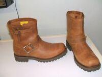 CAT Tan Boots Size 7