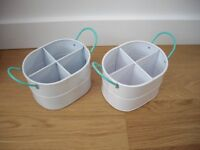 TWO MATCHING CUTLERY BUCKETS