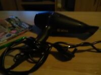 GHD hairdryer black and purple