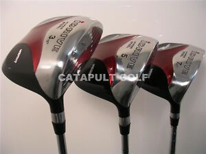 NEW IDRIVE RED SQUARE ANTI-SLICE DRAW FAIRWAY 3 5 7 WOOD SET GOLF CLUBS REGULAR