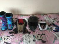 Motorcross gear Helmet boots kit body armour