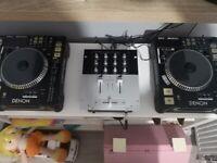 Denon dns 5000 cd turntables with mixer