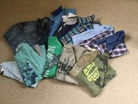 Selection of young boys clothes
