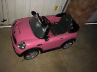 Electric ride on pink mini car with remote control