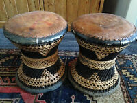 Antique/Vintage/Retro/Boho Ethnic Stools, Foot Rests, Wicker, Basket