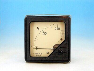Large Vintage Soviet Analog Panel Volt Meter System Ac 0-250v Voltmeter Gauge N