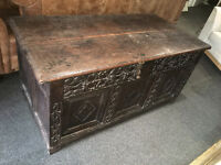 Superb Huge Superior Antique Victorian Ornate Hand Carved Solid Oak Storage Trunk Blanket Box Seat