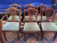 Pine Dining Chairs Inc Carvers