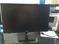 LG 22 inch Full HD LED Monitor with cables