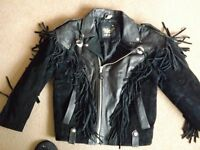 Ladies Leather and Suede Motorcycle jacket size 12/14