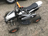 mini quad bike 50 cc very quick - starts everytime - great fun very fast 49 cc