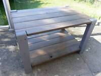 Robust Wooden 2 Tier Low Garden Table suitable for Patio, Decking or Conservatory