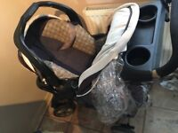Graco Travel System with Brand New Raincover