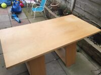 Large wooden desk from IKEA