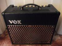 Vox Valvetronix VT30 Guitar Amplifier 12AX7 / ECC83 Valve, 22 Amp Models and Digital Effects