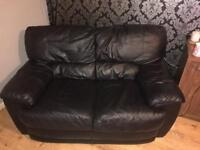 SWAP - two black leather 2 seaters